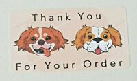 325 x Thank You for Your Order Labels DOGS Matte Labels Stickers