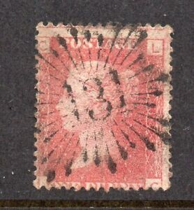 SG43 1d Rose-Red Plt87 LC S/Early Brunswick Star CAT £3++