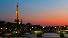 Eiffel Tower Paris France cityscape skyline image picture print art photo 268