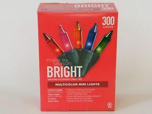 300 Multicolor Mini Lights Indoor Outdoor Green Wire 5 Colors