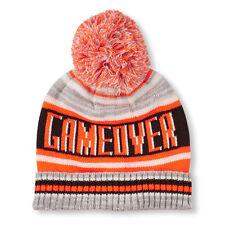 Boys 'Game Over' Striped Pom Pom Beanie Hat size S/M (4-7 YR)