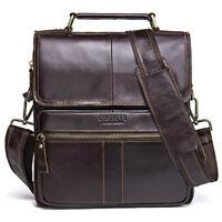 Men's Genuine Leather Handbag Crossbody Tote Laptop Shoulder Bag Messenger Bags