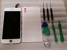 Iphone 6 Plus + White LCD Digitizer Screen 5.5 w/ tools & Tempered Glass