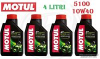 4 LT L OIL MOTUL 5100 10W40 MOTORCYCLE SCOOTER TECHNOSYNTHESE ESTER MA2