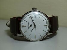 Vintage Favre Leuba Auto Daymatic Date Mens Watch e396 Old  used Antique