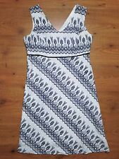 EPILOGUE A line Doily Print Knee Length Fully Lined V Neck Sleeveless Dress S:L