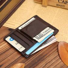 NEW Men Leather Wallet Money Clip Credit Card ID Holder Front Pocket Thin Slim