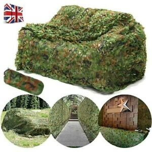 Camouflage Net Camo Hunting Shooting Hide Army Camping Tent Woodland Netting UK