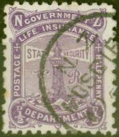 New Zealand 1896 1/2d Brt Purple SGL10 P.11 x 10 Fine Used