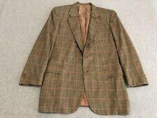 Brioni 100% Pure Cashmere Blazer Jacket Sport Coat Palatino Check Mens 44L