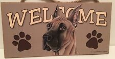 Welcome Great Dane Dog Breed Wood Sign/Wall Plaque