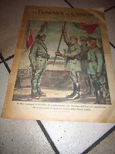domenica corriere 1944 FASCISMO RSI DUCE CONSEGNA BANDIERA ESERCITO REPUBBLICANO