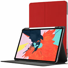 Apple iPad Pro 12.9 inch 2018 Smart Case | Protective Cover Stand | Red + Stylus