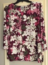 JM Collection Black wine floral edgy Bloom size Large $40