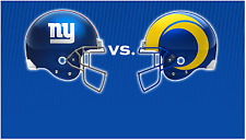2 LOWER LEVEL TICKETS New York Giants vs Los Angeles Rams AISLE Seats 10/17/2021