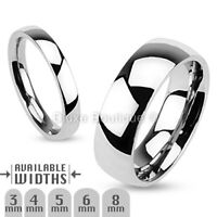 Stainless Steel 316L Classic Comfort Fit Wedding Ring Band Size 4.5-14
