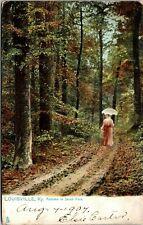Postcard KY Louisville Raphael Tuck Autumn in Jacob Park Lady No.2405 C.1905 A16