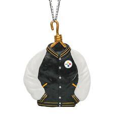 Pittsburgh Steelers Christmas Tree Holiday Ornament - Team Logo Varsity Jacket