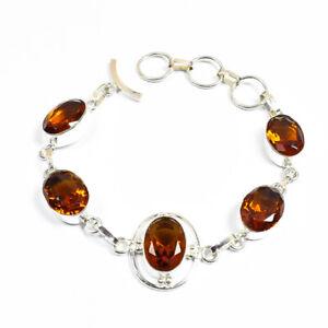 """Love Gift Golden 925 Silver Jewelry Bracelet 7-8"""""""
