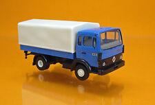 Brekina 34850 Renault JN90 Pritsche/Plane-LKW - blau