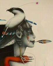 "PAUL WUNDERLICH 1985 ""BIRD OF PREY"" ORIGINAL PENCIL SIGNED LITHOGRAPH 373/1000"