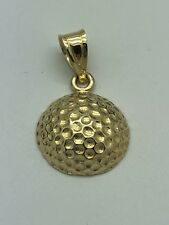 14k Yellow Gold Golf Ball Charm Pendant Micheal Anthony