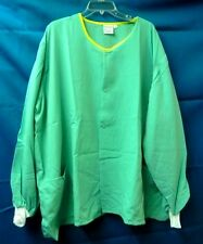 Scrub Jacket Women's Green Yellow Hinson Hale 4XL Round Neck Nursing Warm Up New