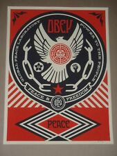 Shepard Fairey Peace and Freedom Dove Obey Giant signed poster art print