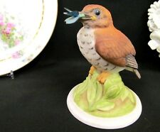Vintage Boehm Baby Wood Thrush Butterfly  #444 figurine Made in USA painted