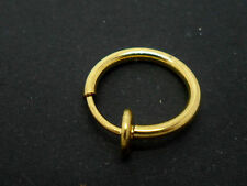 A  GOLD COLOUR  FAKE  LIP EAR  NOSE RING. 12MM. NEW.