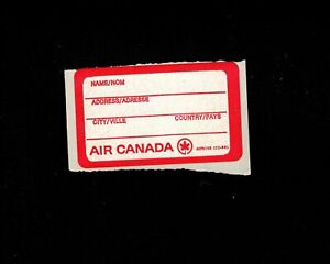 Airline Memorabilia Air Canada Air Line Baggage Label Unused Obsolete