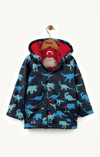 Hatley Dino Shadows Raincoat Boys Coat Black Blue 122cm - 7 Years