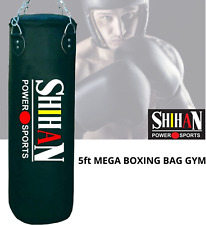 PUNCH BAG BOXING BAG Mega Rexion Leather Bag Boxing, Kickboxing Martial Arts 5ft