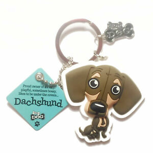 """Wags & Whiskers Dog Key Ring """"Dachshund"""" by Paper Island"""