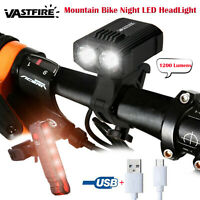 2-LED Lamp Mountain Bicycle Bike Front Light USB Rechargeable Bicycle Headlight