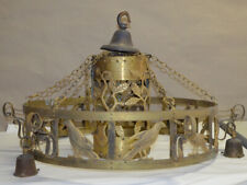 Antike Hängeleuchte aus Bronze/Messing Jugendstil