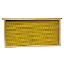 """9 1/8"""" Waxed Standard Plastic Bee Hive Frames  Natural 2 Cases of 30 (60 Total)"""