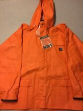 CARHARTT Orange Men's Surrey PVC Rain Coat Jacket Waterproof 2XL Tall NEW