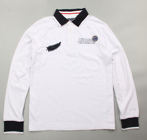 New Zealand Rugby Vintage All Blacks Polo Shirt White