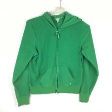 AEO XL Green Full Zip Fleece Hoodie Jacket Pockets American Eagle Outfitters