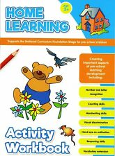 Home Learning Activity Workbook Age 3+ Educational Pre-School Children Letters