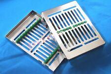 GERMAN Dental Instrument Autoclave Sterilization Cassette Tray Rack-10 Ins GREEN