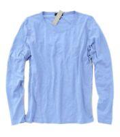 J Crew - Womens XS - NWT - Periwinkle Blue Long Sleeve 100% Cotton Crew Neck Tee