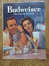 1959 Budweiser Beer Ad - Potatoe Chips & Bug