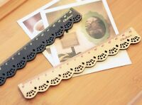 Cute Lace Look Wooden Ruler school Kids stationary  Loot Party bag Filler