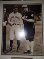 Babe Ruth and Lou Gehrig Double Matted and Framed 16x20 Photo Display-Great Look
