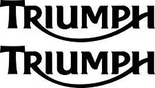 2 x Triumph Motorrad Aufkleber  200 x 55 mm moto sticker decals -21 Farben-