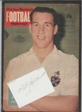 Signed WHITE card by NAT LOFTHOUSE the former BOLTON WANDERERS footballer