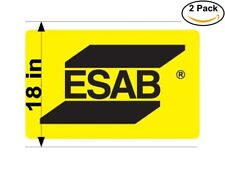 esab logo 2 Stickers 18 Inches Sticker Decal