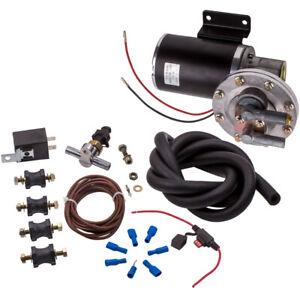 "Electrical Vacuum Pump Set For Brake Booster 12 V 18"" ~22"" w/Vacuum Hose"